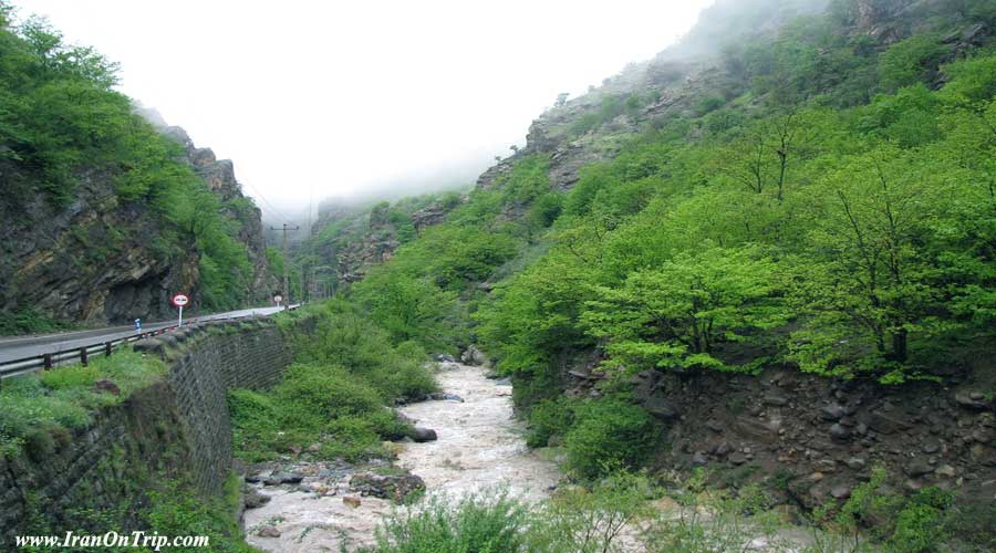 Challus River in Iran - Chaloos River in Iran
