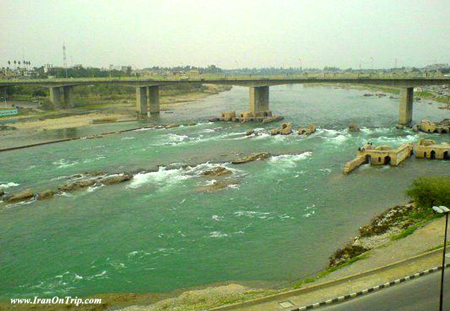 Dez River in Dezful Iran