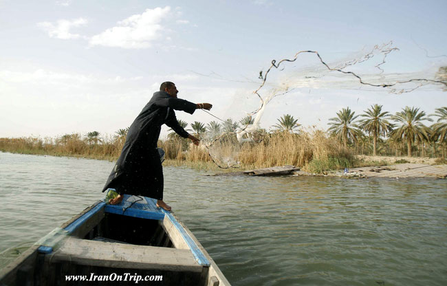 Shatt al-Arab River in Abadan Iran